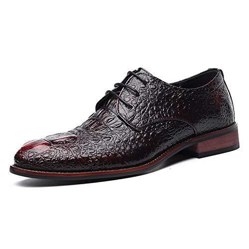 Rouge LOVDRAM Nouvelle Collection De Chaussures pour Hommes avec Une Robe De Soirée en Crocodile pour Hommes