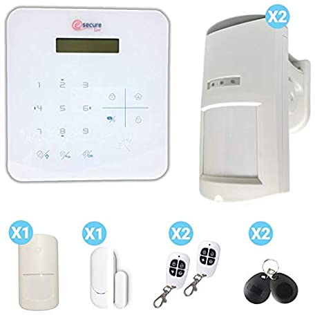 Security Mania - Alarma para casa gsm Blanca A9 con sensores ...