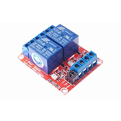 SMAKN DC 12V 2CH 2 Channel Isolated Optocoupler High/Low Level Trigger Relay Module: Electronics