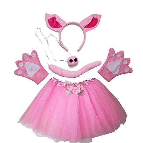 Kirei Sui Kids Costume Tutu Set Hot Pink Pig