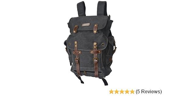 2745ca158735 Wwii Backpack World War 2 Vintage Style Heavy Duty Canvas-black