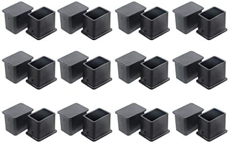 Saim Rectángulo negro muebles mesa escritorio pie tapa 30 mm x 20 ...