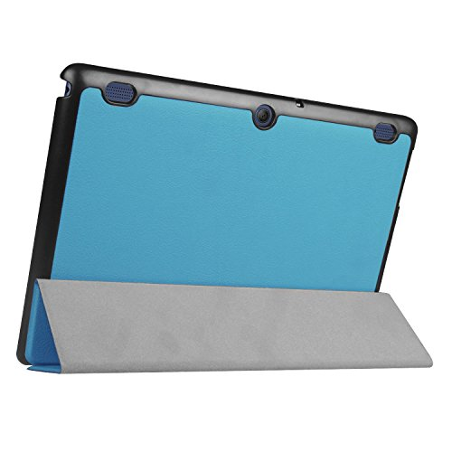 Lenovo Tab 2 A10-30F Funda, Vikoo Ultra Slim Ligera Smart-cáscara Cuero Case para Tableta TLenovo Tab 2 A10-30F Tablet PU Leather Cover Case - Negro Azul Claro