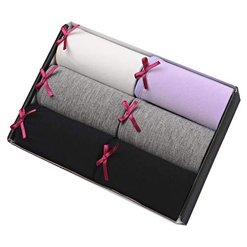 Imakokoni Women's Bikini Panties, 6 Pack (Large, Multi-A)