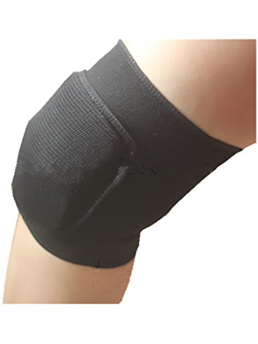 ROLECOS 2 Pairs Volleyball Knee Pads Black Cosplay