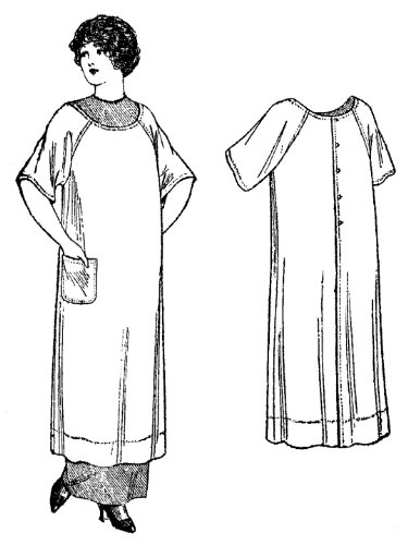 1912 Costumes The Titanic (1911-1914 Ladies' and Misses' Apron Pattern)