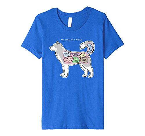 kids-funny-husky-t-shirt-anatomy-of-a-husky-dark-shirts-6-royal-blue