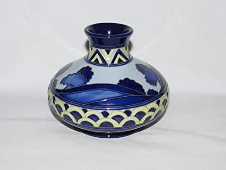 Moorcroft Pottery - Second Dawn Blue - Vase 32/5 - Height 5