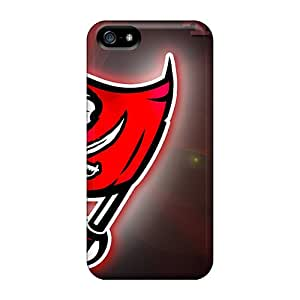 Perfect Hard Phone Cases For Iphone 5/5s With Customized Beautiful Tampa Bay Buccaneers Pattern Best-phone-covers