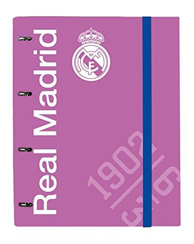 Grupo Erik Editores Real Madrid Rosa - Carpeblock 4 anillas premium, 24.5 x 34 cm: Amazon.es: Oficina y papelería