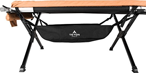 Teton Sports Under Cot Storage; Perfect Companion to the Camping Cots; A Must Have for Camping Cot Users; Storage Organizer for Under Your Cot