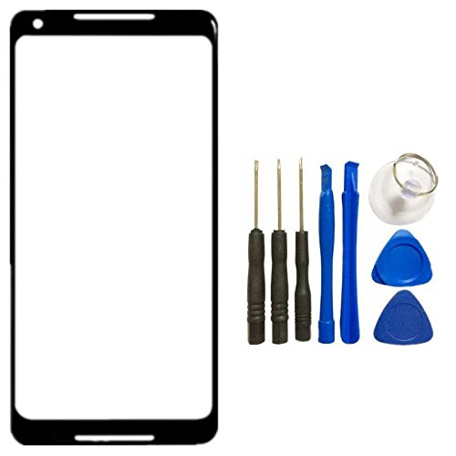 for Google Pixel 2 Outer Front Screen Glass Lens Replacement - Front Panel Outer Screen Glass Lens Replacement With Opening Tool for Google Pixel 2 (Not LCD &Not Digitizer &Not Screen Protector)