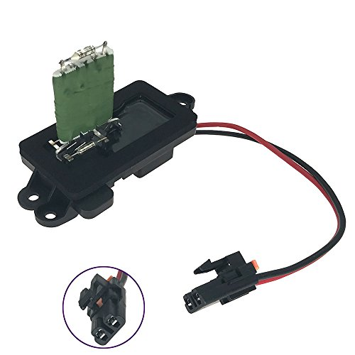 1581086 Blower Motor Resistor Complete Kit with Wire Harness Manual AC Heater Control Module for Chevy Silverado Suburban Tahoe GMC Sierra Yukon Replaces# 89019088 973-405 158-1086 22807123