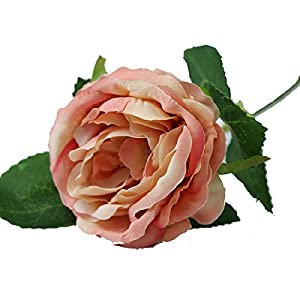 BleuMoo Artificial Silk Rose Floral Flower Bridal Bouquet Wedding Home Decor DIY 57