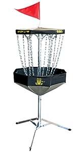 DGA Mach Lite Portable Disc Golf Practice Basket (Black)