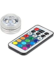 Duotar Underwater lights Mini LEDs RGB Luz Submersível Lâmpada colorida Luz de vela subaquática IP68 Resistência à água com controle remoto Luz submersível RGB