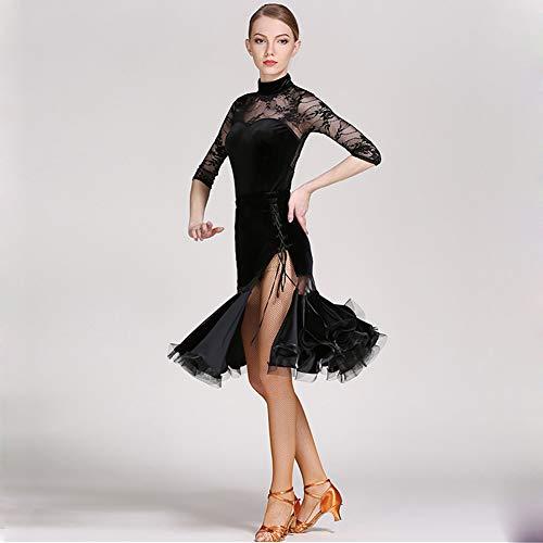 09ddd371b3cf Gonna Palcoscenico Flessibile Festa Di Vestito Black Abiti Latino Xhtw  Elegante Danza Costumi amp b Esame Fascia Alta Donna Concorrenza q0C0wU