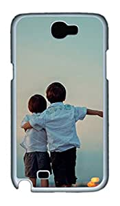 Samsung Galaxy Note II N7100 Cases & Covers - Cute Little Boy Custom PC Soft Case Cover Protector for Samsung Galaxy Note II N7100 - White