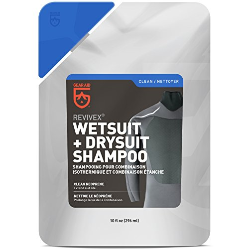 Gear Aid Revivex Wetsuit and Drysuit Shampoo Cleaner and Conditioner, 10 fl oz