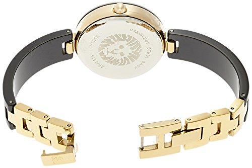 4e2c5f058 Anne Klein Women's AK/1314BKBK Swarovski Crystal Accented Gold-Tone Black  Ceramic Bangle Watch