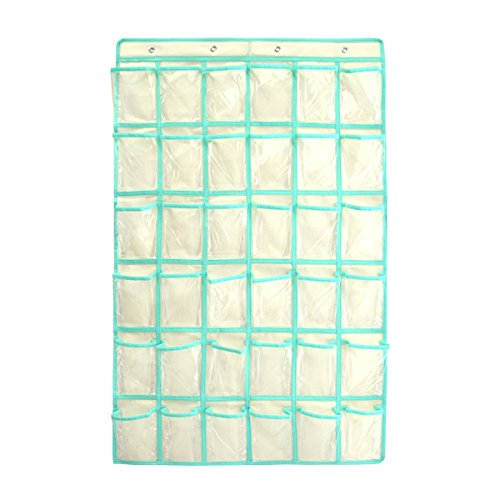 Hanging Cell Phone Pocket Charts for Teachers AZDENT Classroom Wall Clear Holders and Organizers for Calculators 36 Pockets by AZDENT