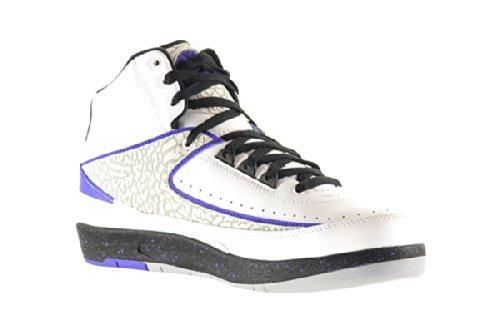 Amazon.com | Air Jordan 2 Retro Men's Shoes White/Dark Concord-Black-Wolf  Grey 385475-153 | Basketball