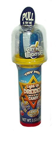 Light UP Dreidel with Candy - 1 count by Hobbs & Dobbs