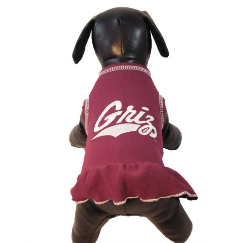 NCAA Montana Grizzlies Cheerleader Dog Dress (Team Color, Medium) ()