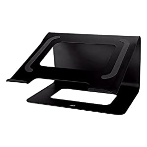 "3M Laptop Stand, Raise Screen Height to Reduce Neck Strain, Steel Construction with Bumpon Protective Product Keeps Laptop Secure, Holds Laptops Up to 15"", 10 lbs, Storage Underneath, Black (LS85B)"