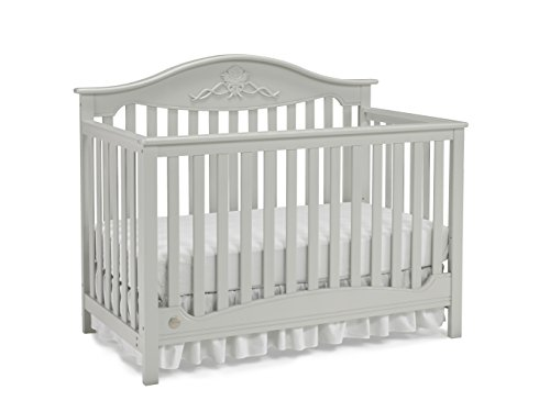 Fisher-Price Mia 4-in-1 Convertible Crib, Misty Grey ()