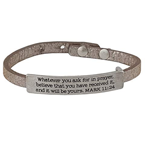 Bible Verse Plaque Leather band