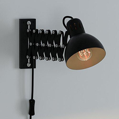 Lamp Swing Arm Scissor Extendable Accordion Black