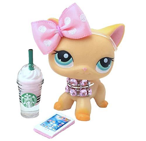 Littlest Pet Shop Accessories LPS Lot Frappuccino Bow Necklace Phone