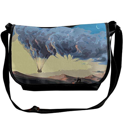 Balloon Fashion Bag Messenger Clouds Travel Surreal Handbag Sling Black Men's Bags Hfqdxw0x