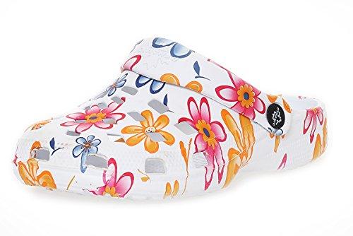Matyfashion Stylische Damen Clogs/Geeignet für Strand,Garten und Sauna/Slipper BF 00263 Rot / Orange
