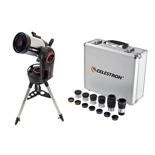 Celestron NexStar Evolution 6, Schmidt-Cassegrain Telescope with Integrated WiFi - with Deluxe Accessory Kit (5 Plossl Eyepieces, 1.25in Barlow Lens, 1.25in Filter Set, Accessory Carry Case by Celestron