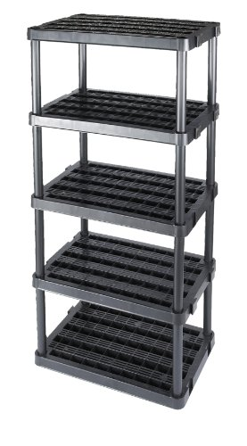 Gracious Living Adjustable 5-Shelf Medium Duty Shelving Unit