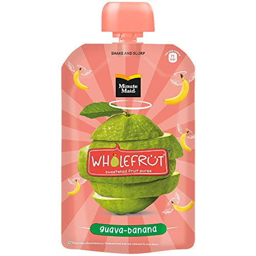 Minute Maid Wholefrüt Guava Banana Purée – Pack of 5 x 100 g