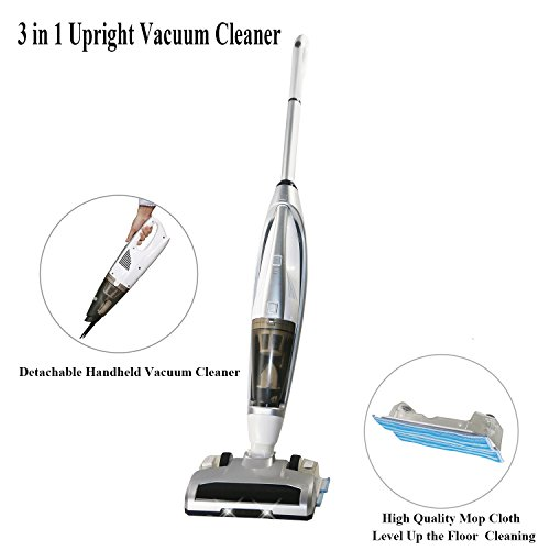 FINE DRAGON Cordless Vacuum Cleaner, 3 in 1 Upright Stick Va