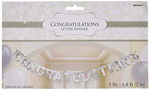 Amscam 122591 Large Foil Letter Banner, 6 3/4' x 6 1/4