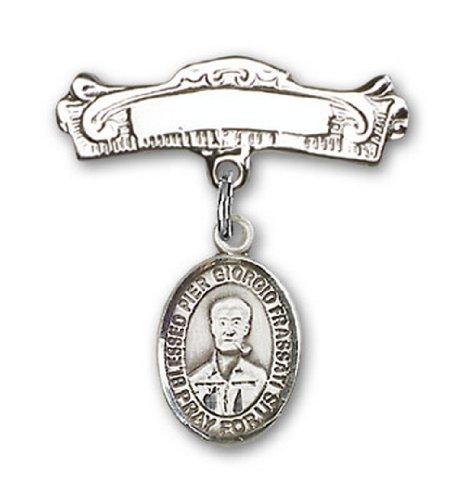 Icecarats Créatrice De Bijoux En Argent Sterling Béni Giorgio Frassati Jetée Charme Broches Badge Arc 7/8 X 7/8