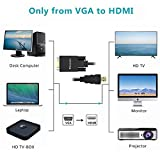 VGA to HDMI Adapter Cable 50FT/15M
