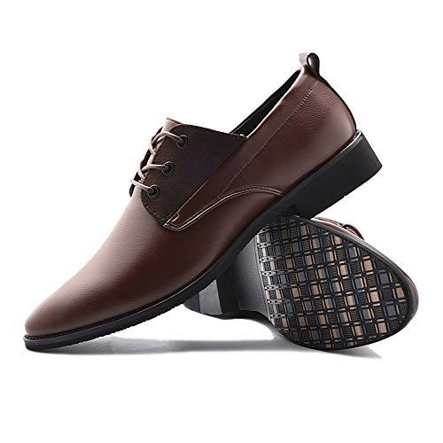 nuovo 38 Marrone da Scarpe pelle shoes Oxford 2018 EU stile da in Scarpe lavoro stile Dimensione casual Uomo britannico uomo Jiuyue Marrone Pelle verniciata Color x7Sw4qtqB