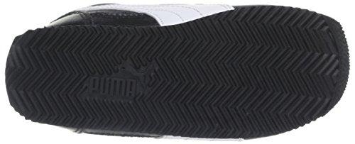 Puma Fieldsprint L V KIDS - Zapatillas infantil Negro (Black/White/Sulphur Spring)