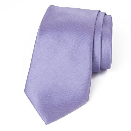 Spring Notion Men's Solid Color Satin Microfiber Tie, Regular Dusty Lavender