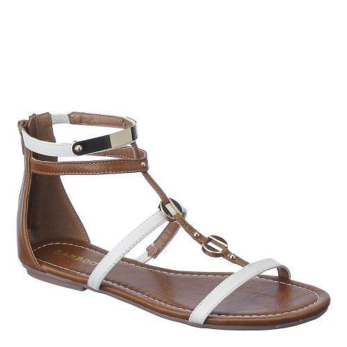 Sandalo Da Donna In Bambù Pable-01 Bianco