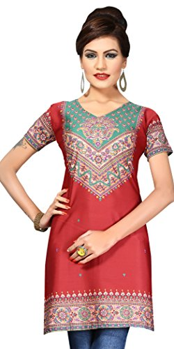Indian Tunic Top Womens Kurti Printed Blouse India Clothing – Small, L 144