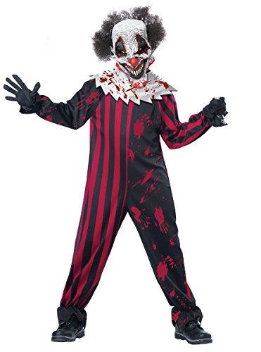 [Boys Kreepy Klown (creepy Clown) Costume Size XL 12/14] (Creepy Kids Costumes)