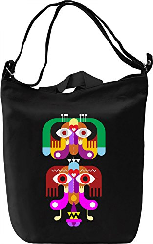Totem Borsa Giornaliera Canvas Canvas Day Bag| 100% Premium Cotton Canvas| DTG Printing|