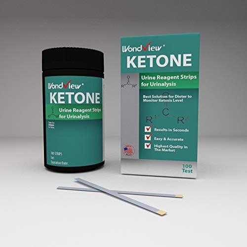 Wondview Ketone Test Strips: Testing Ketosis Based on Your Urine, 100 Ketone Urinalysis Tester Strips 7